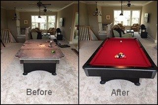 Pool table installations in Miami, Florida