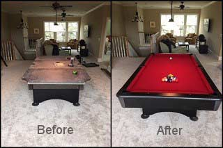 Qualified pool table movers in Miami refelting your pool table content image4