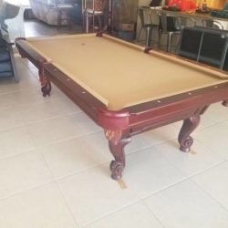 8' Gandy Rams Horn Leg Pool Table