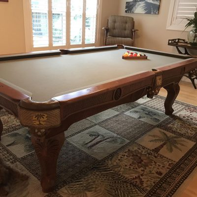 Beach Pool Table & Dining/ping pong conversion set